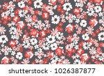 floral pattern in vector | Shutterstock .eps vector #1026387877