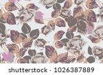 floral pattern in vector | Shutterstock .eps vector #1026387889
