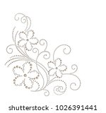 floral vector element for... | Shutterstock .eps vector #1026391441