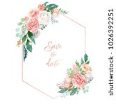 watercolor floral illustration  ... | Shutterstock . vector #1026392251