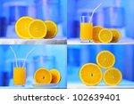 orange juice and orange slices...   Shutterstock . vector #102639401