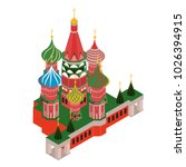 3d isometric moscow saint basil'... | Shutterstock .eps vector #1026394915