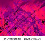 abstract painting. ink handmade ... | Shutterstock . vector #1026395107