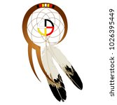 native american dream catcher... | Shutterstock .eps vector #1026395449