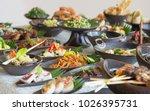 indonesian cuisine   many...   Shutterstock . vector #1026395731