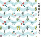 pattern with fashion... | Shutterstock .eps vector #1026398485