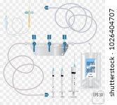 bag of intravenous antibiotics...   Shutterstock .eps vector #1026404707