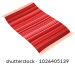red carpet. flying rag rug like ... | Shutterstock .eps vector #1026405139