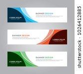 abstract modern banner...   Shutterstock .eps vector #1026412885