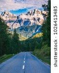 dolomite alps in italy.... | Shutterstock . vector #1026413485