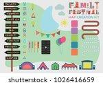 festival map building kit... | Shutterstock .eps vector #1026416659