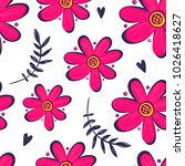 abstract seamless floral... | Shutterstock .eps vector #1026418627
