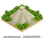 isometric mayan pyramid... | Shutterstock .eps vector #1026419551