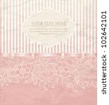 floral background with ribbon.... | Shutterstock .eps vector #102642101