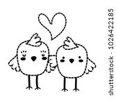 dotted shape chicks couple... | Shutterstock .eps vector #1026422185