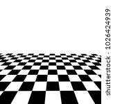 black and white checker. 3d... | Shutterstock .eps vector #1026424939