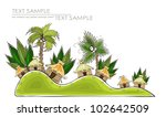 tropical village | Shutterstock .eps vector #102642509
