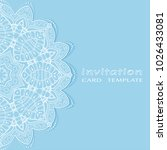 invitation or card template... | Shutterstock .eps vector #1026433081
