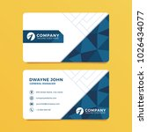 blue geometric business card... | Shutterstock .eps vector #1026434077