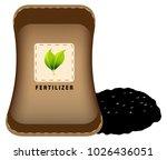 an image of a fertilizer bag... | Shutterstock .eps vector #1026436051
