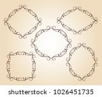 set vector retro frames .vector ... | Shutterstock .eps vector #1026451735