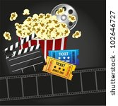 popcorn with  entries  movies ... | Shutterstock .eps vector #102646727