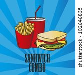 fast food combo with a sandwich ... | Shutterstock .eps vector #102646835