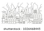 industrial pollution big city... | Shutterstock .eps vector #1026468445