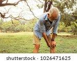 aging man having pain in his... | Shutterstock . vector #1026471625