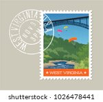 west virginia postage stamp...   Shutterstock .eps vector #1026478441