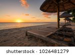 beautiful beach at mauritius... | Shutterstock . vector #1026481279