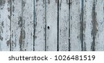 old cracked color wood plank... | Shutterstock . vector #1026481519