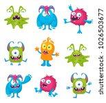 monster vector illustration | Shutterstock .eps vector #1026503677