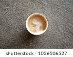takeaway coffee  cappuccino on... | Shutterstock . vector #1026506527