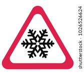 snow warning sign with... | Shutterstock .eps vector #1026526624