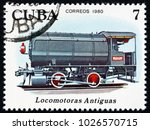 cuba   circa 1980  a stamp... | Shutterstock . vector #1026570715
