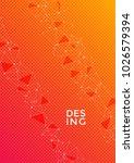 report template in orange.... | Shutterstock .eps vector #1026579394