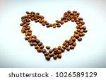 the heart is made of coffee... | Shutterstock . vector #1026589129