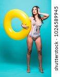full body sexy woman in... | Shutterstock . vector #1026589945