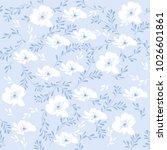 vector seamless floral pattern...   Shutterstock .eps vector #1026601861