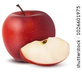 realistic 3d vector ripe red... | Shutterstock .eps vector #1026601975