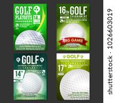 golf poster set vector. design... | Shutterstock .eps vector #1026603019