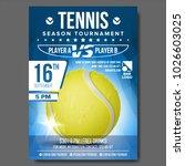 tennis poster vector. banner... | Shutterstock .eps vector #1026603025