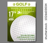 golf poster vector. banner... | Shutterstock .eps vector #1026603034