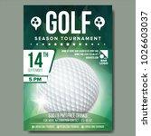 golf poster vector. sport event ... | Shutterstock .eps vector #1026603037