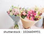 flower shop concept. close up...   Shutterstock . vector #1026604951