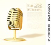 shining  golden  studio... | Shutterstock .eps vector #1026606001