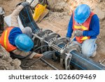 construction site water supply... | Shutterstock . vector #1026609469