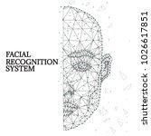 illustration of human face... | Shutterstock .eps vector #1026617851