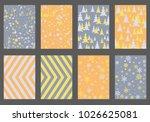 halftone lines  fir tree... | Shutterstock .eps vector #1026625081